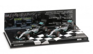 2-Car Set Mercedes AMG Petronas F1 Team W07 Hybrid Constructor World Champion 2016
