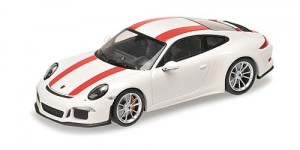 Porsche 911 R 2016 (white w/red stripes)